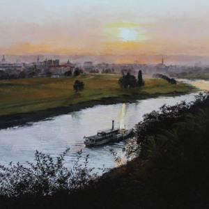 Bild View to River Elbe