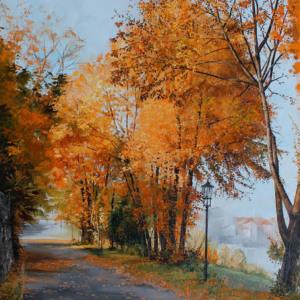 Bild Autumn at River Elbe